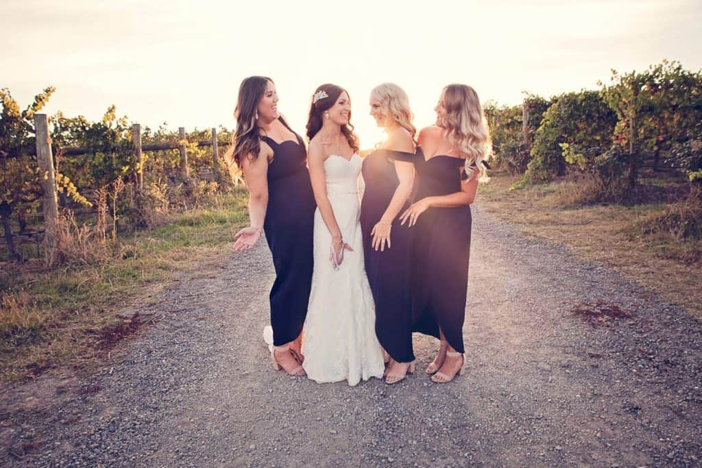 bridesmaids at vines of the yarra valley wedding