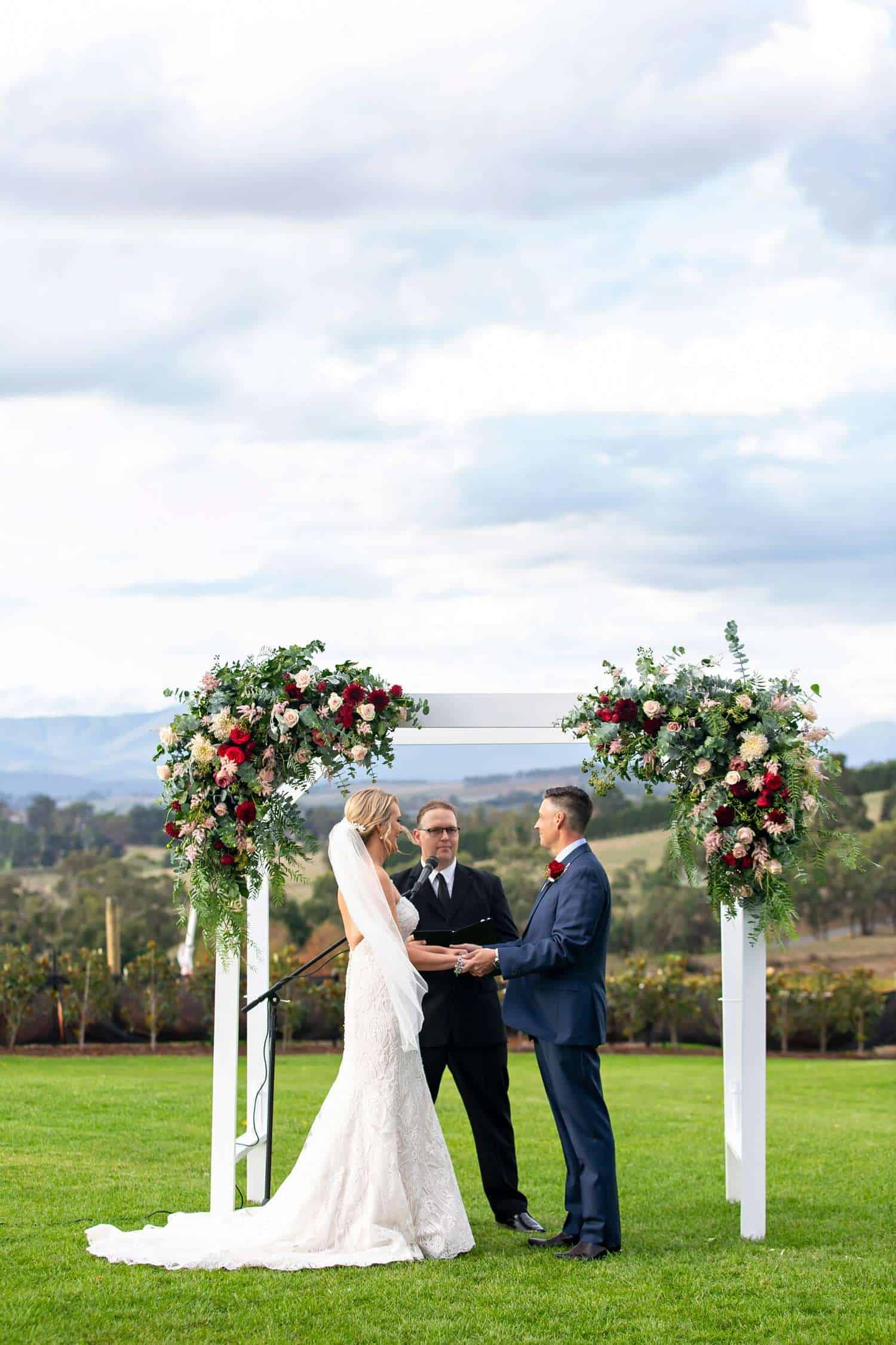 outdoor wedding venue in yarra valley