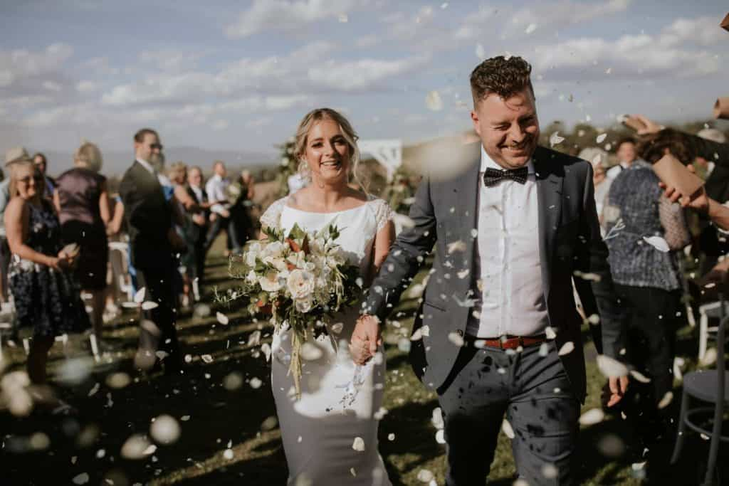 married couple at vines yarra valley wedding