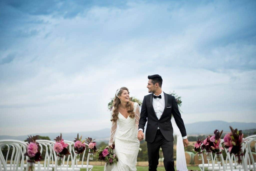 outdoor wedding at vines of yarra valley