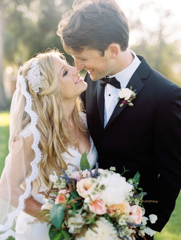 winery wedded couple