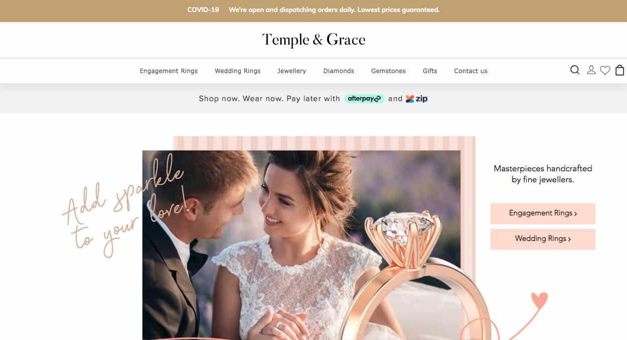 Temple & Grace Wedding Jewellery Melbourne