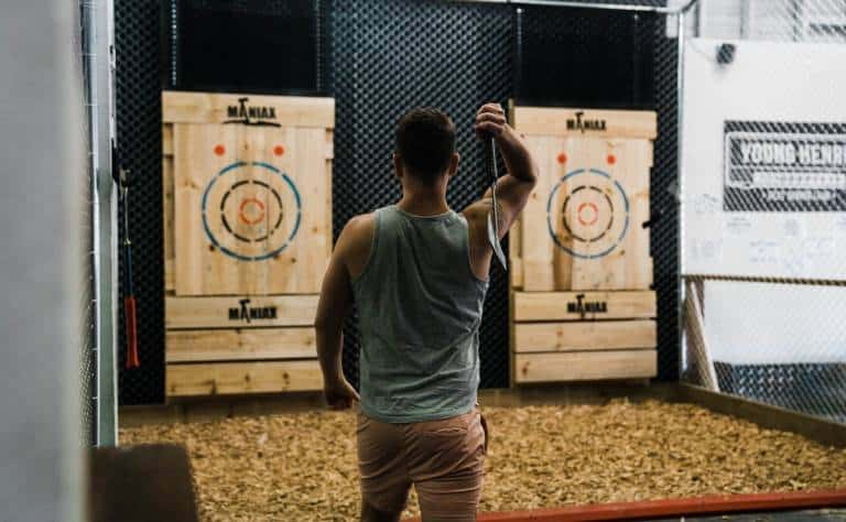 bucks party axe throwing