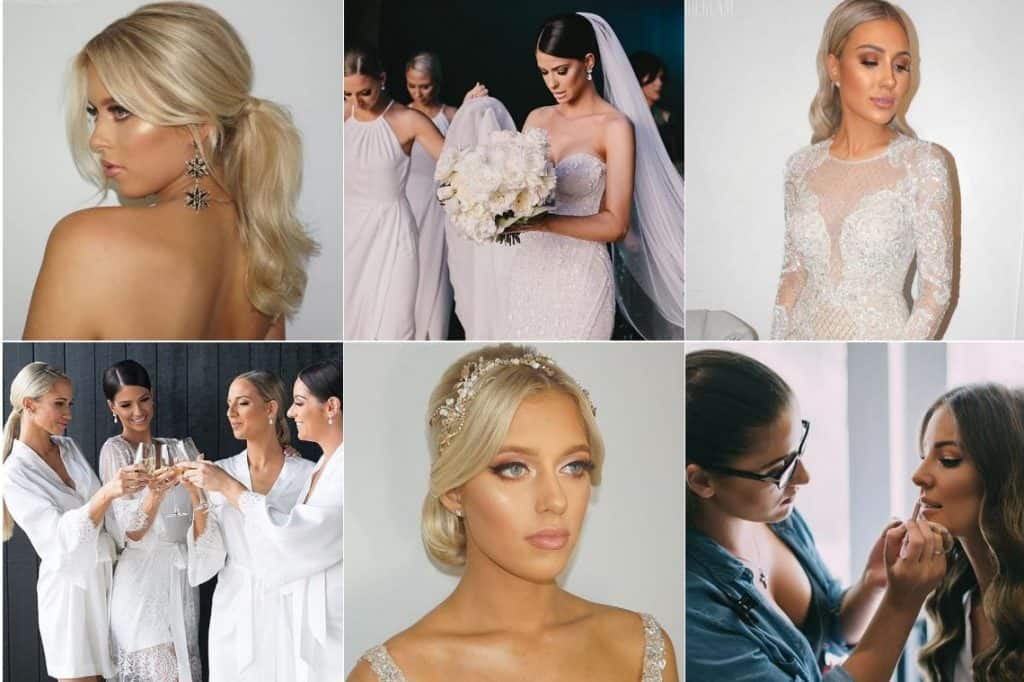 pro glam bridal hair and make up