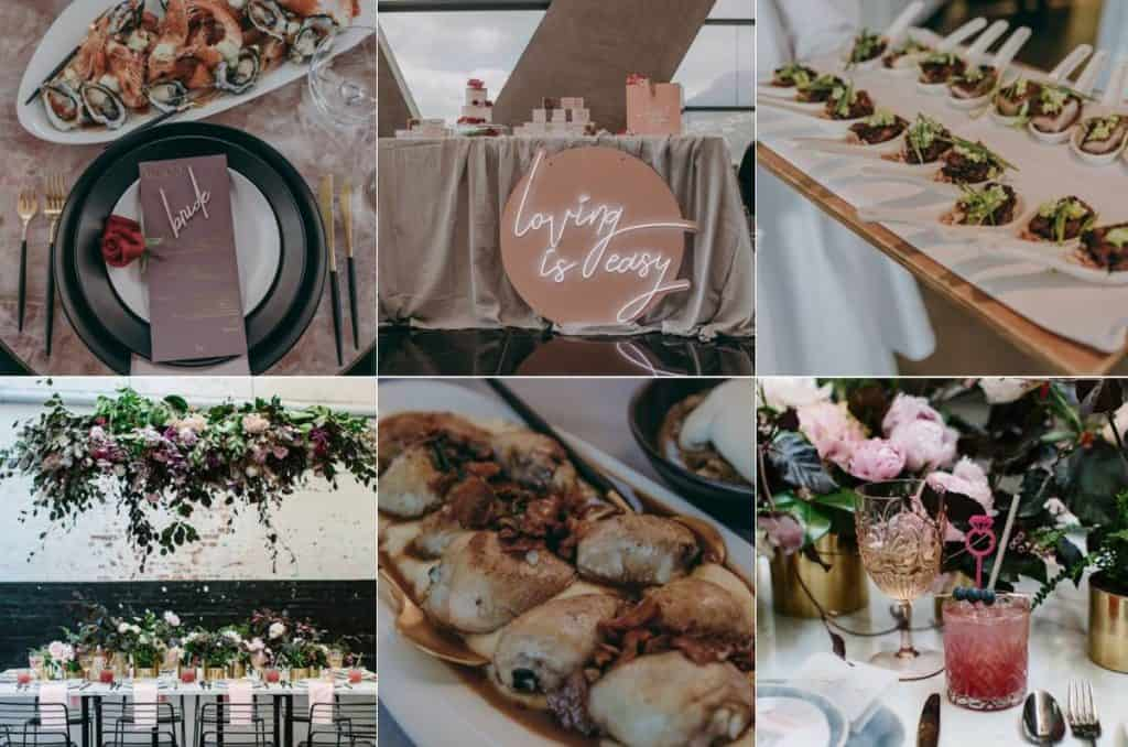 Mint & Mingle professional wedding food
