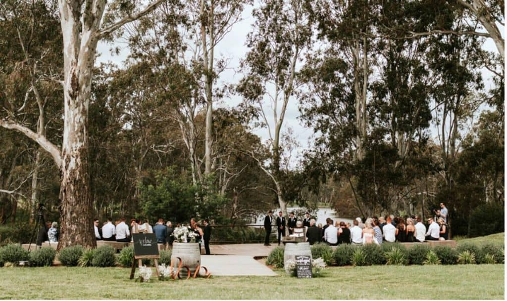 Mitchelton Wines outdoor wedding party