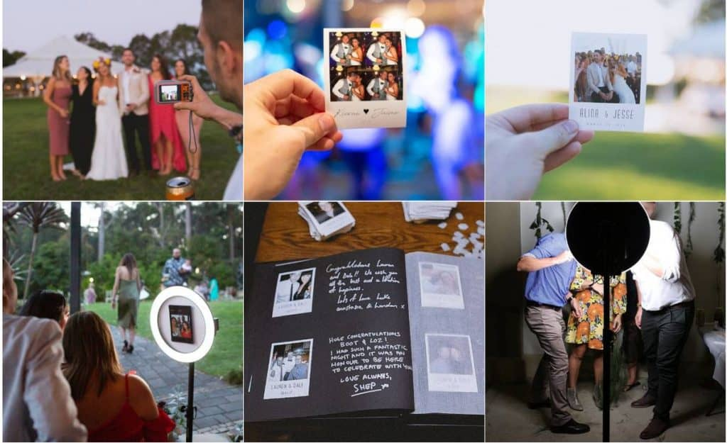 Undisposable wedding photos and photo booths
