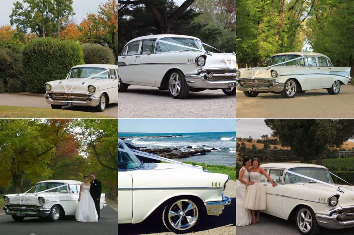 Classic 57 Chevs Wedding cars