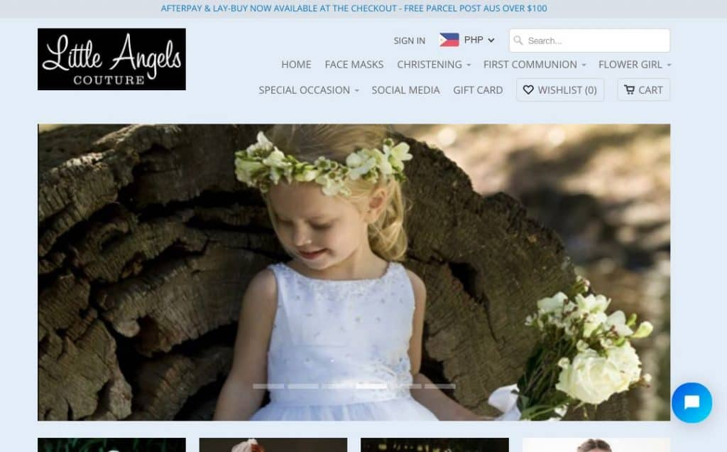 Page Boy and Flower Girl Dress Shop Melbourne