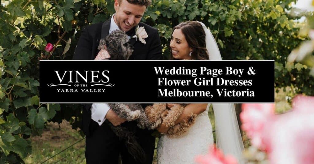 wedding page boy & flower girl dresses melbourne, victoria vines