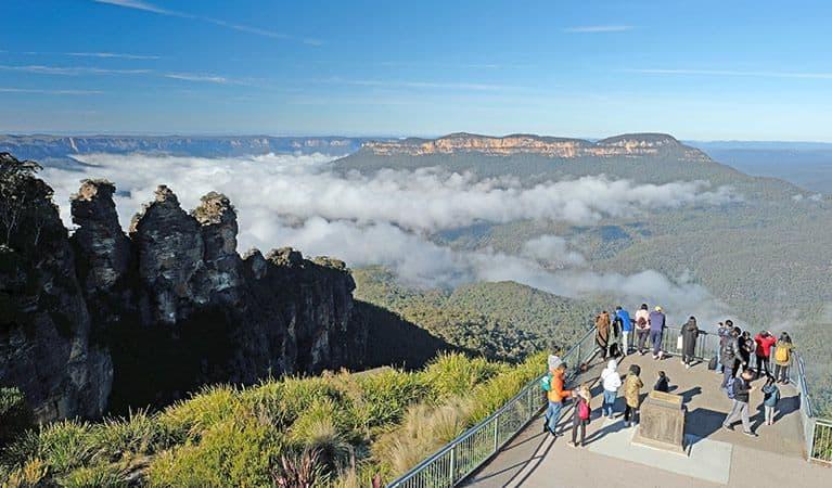 people exploring mountains