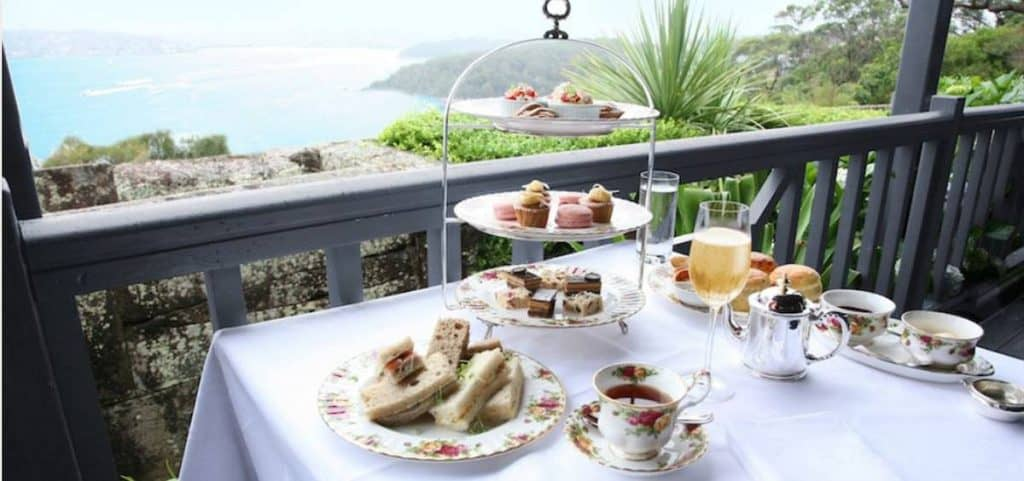 high tea with ocean views