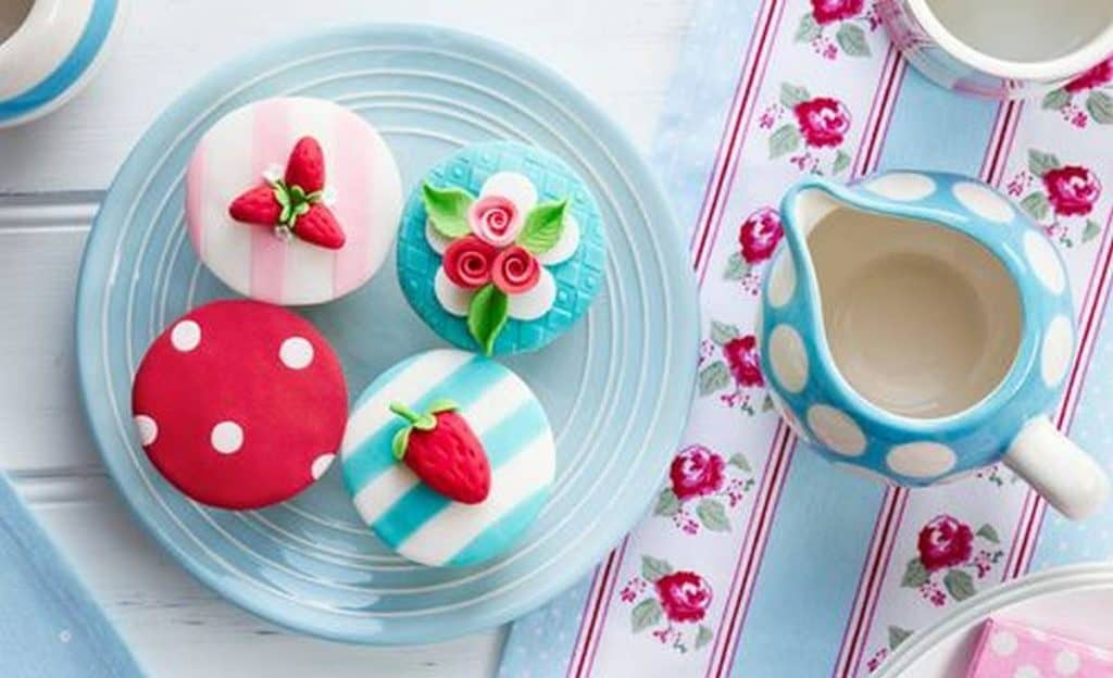 colourful cupcakes and patterns