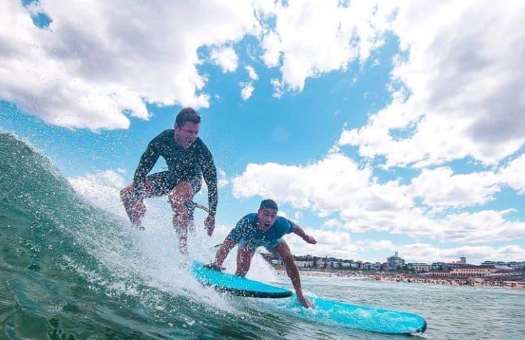 boys on surfboard surfing