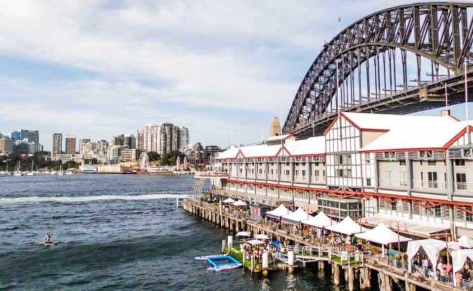 sydney harbour bridge and restaurants