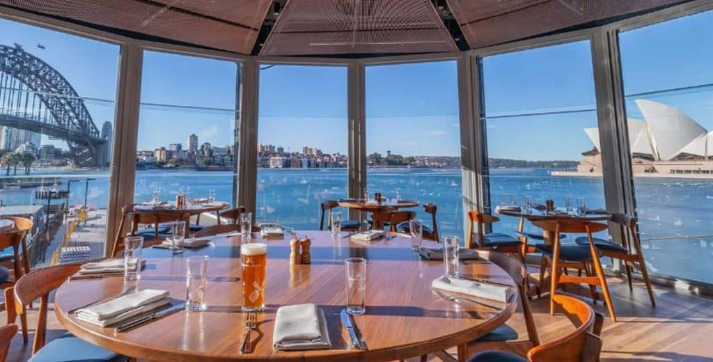 restaurant with ocean views big windows