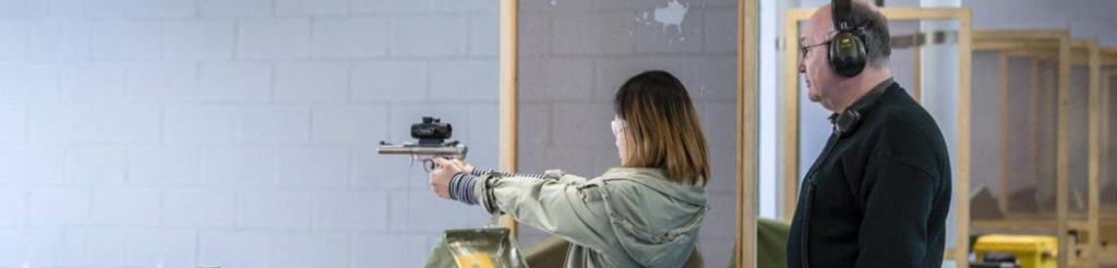 girl at shooting range