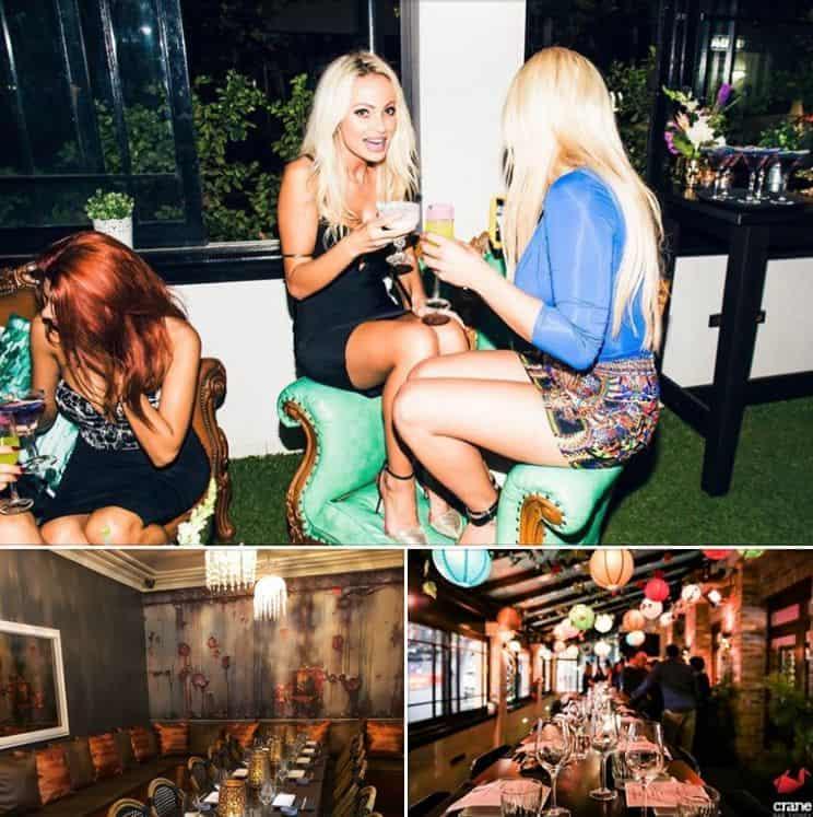 cranbar dining area bar and girls drinking