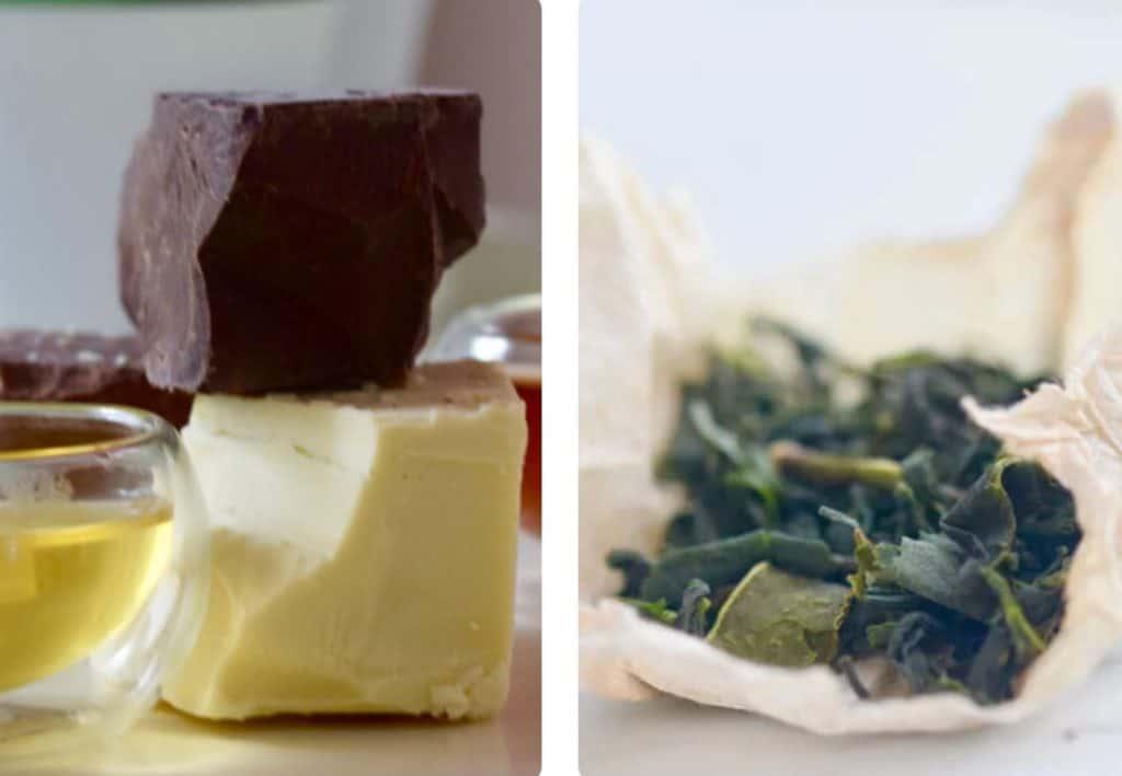 loose leaf tea and chocolate