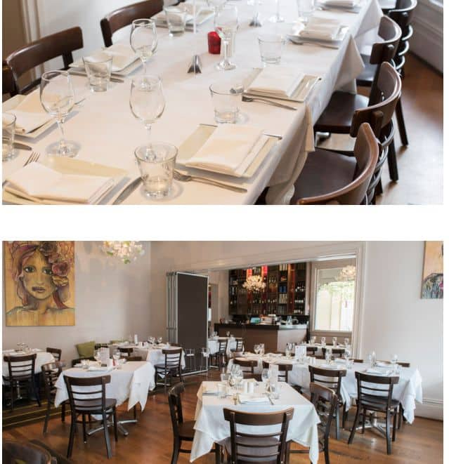 white table linen chairs and tables