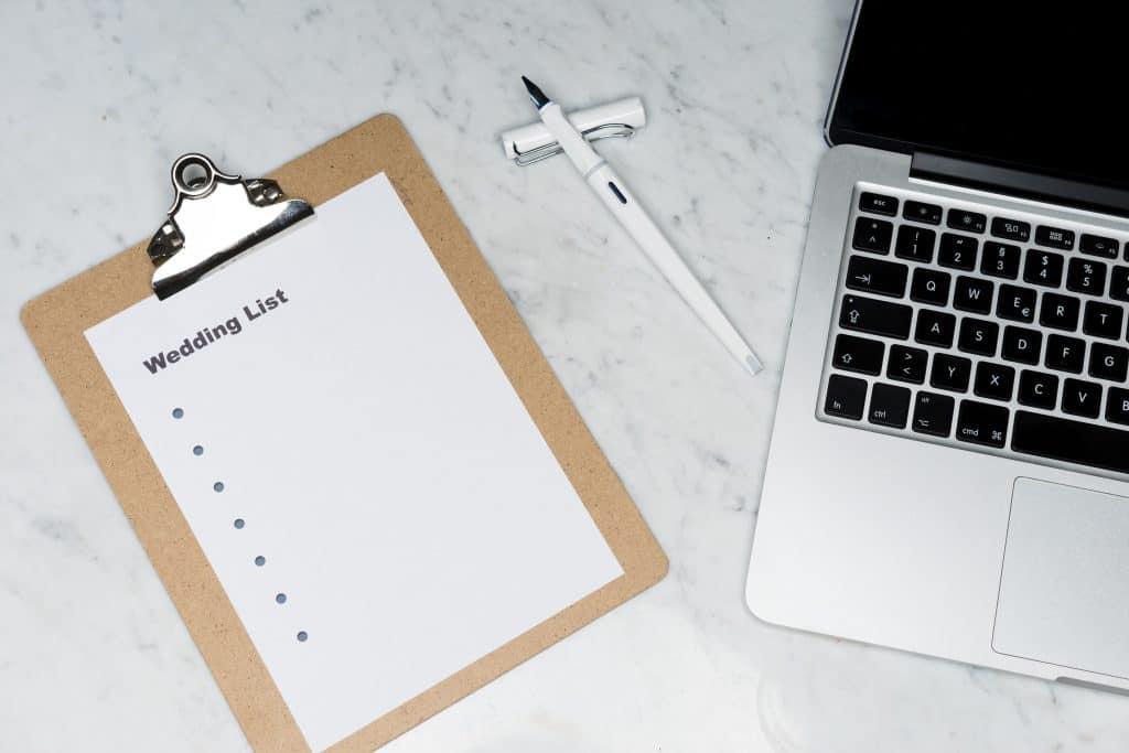 Wedding List Planning