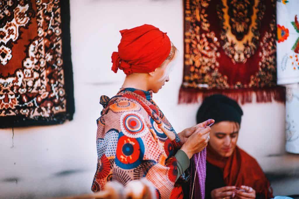 Jewish Woman Wearing Turband