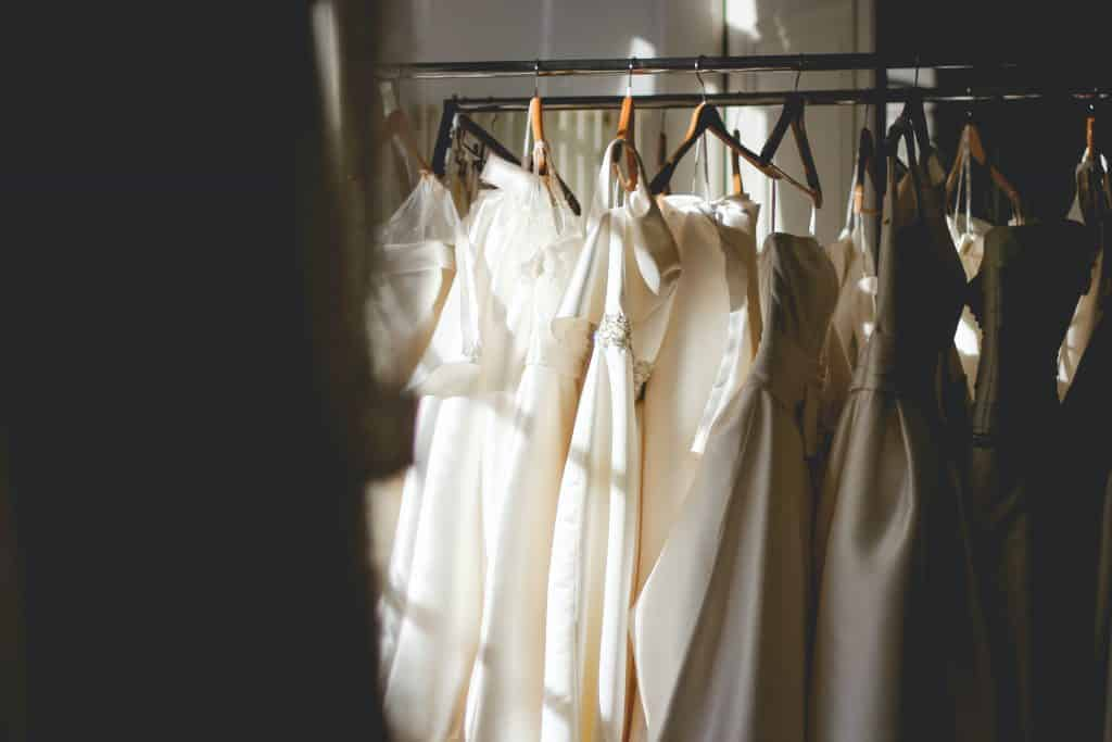 stored wedding dresses