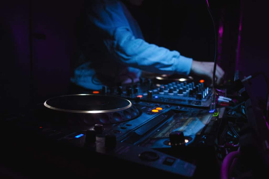 DJ at a wedding