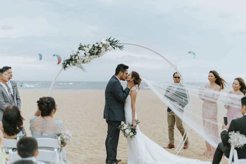 beach marriage reception