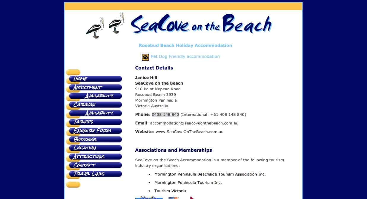 Seacove on the Beach Accommodation and hotel burwood melbourne