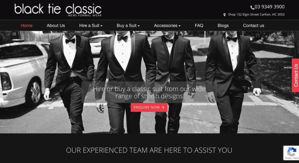 Black Tie Classic Suit Tailors Melbourne