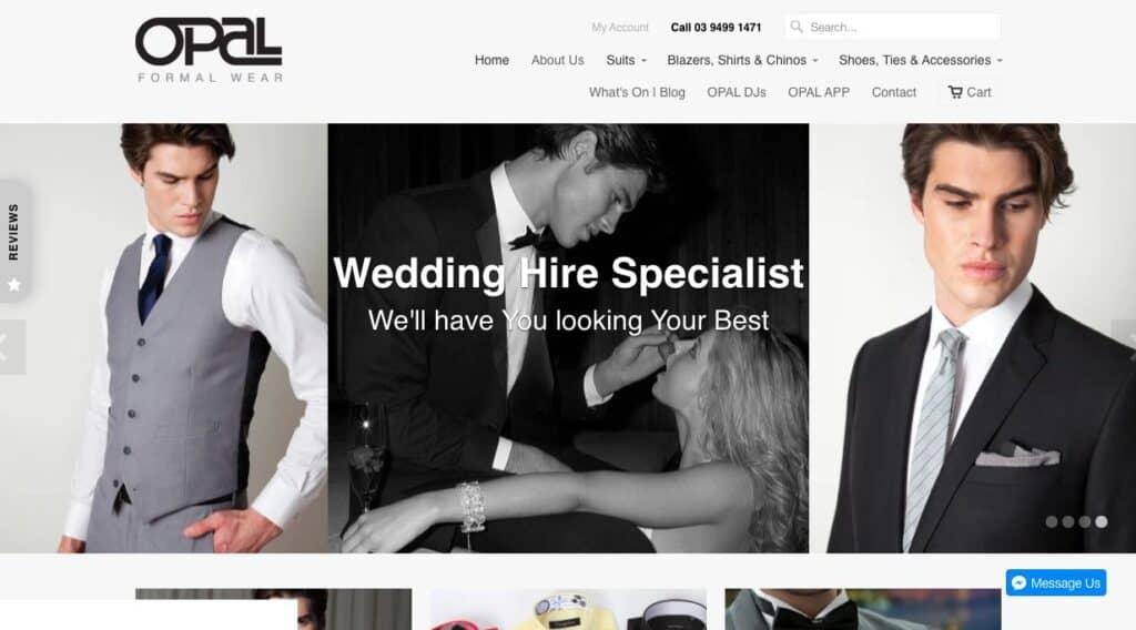 Opal Formal Wear Suit Tailors Melbourne