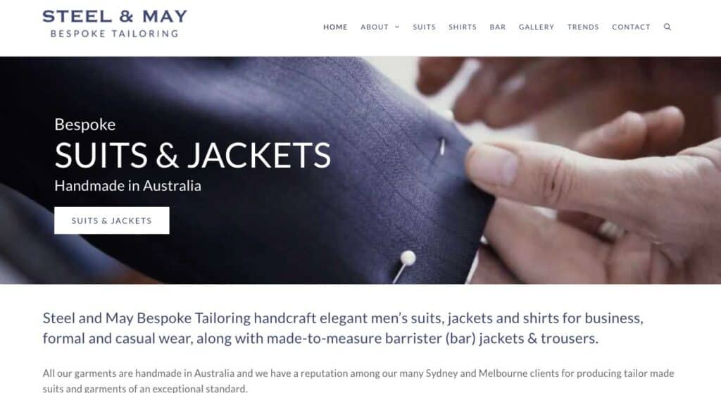 Steel And May Suit Tailors Melbourne