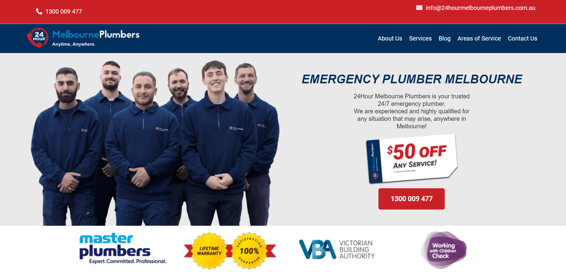 24 Hour Melbourne Plumbers