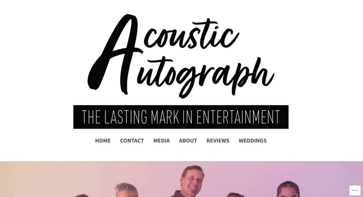 Acoustic Autograph Wedding Singers & Bands Sydney