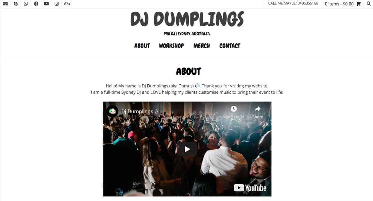 Dj Dumplings Wedding Dj Sydney