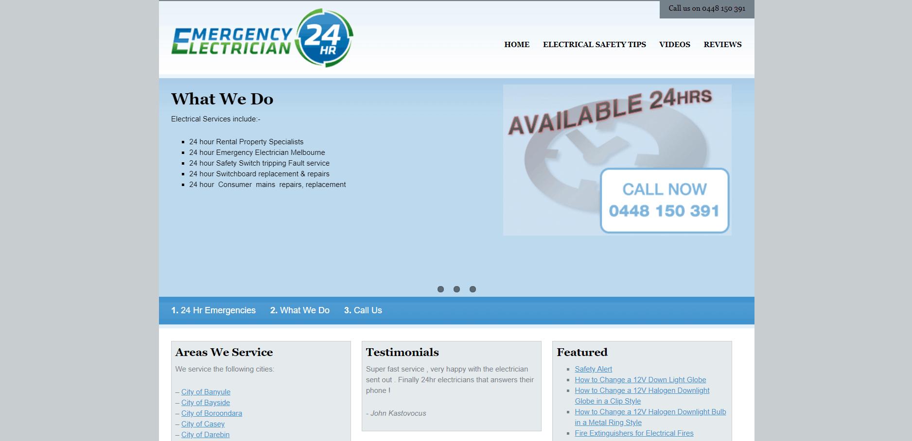 Emergency Electrician 24 Hr