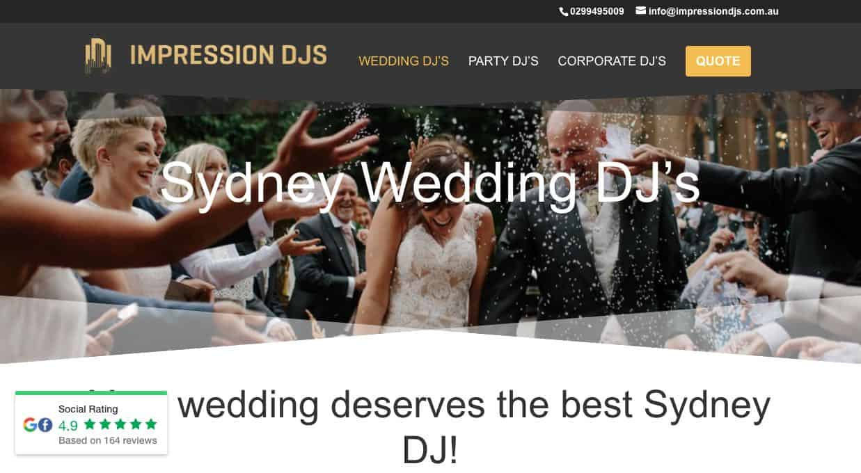 Impression Djs Wedding Dj Sydney