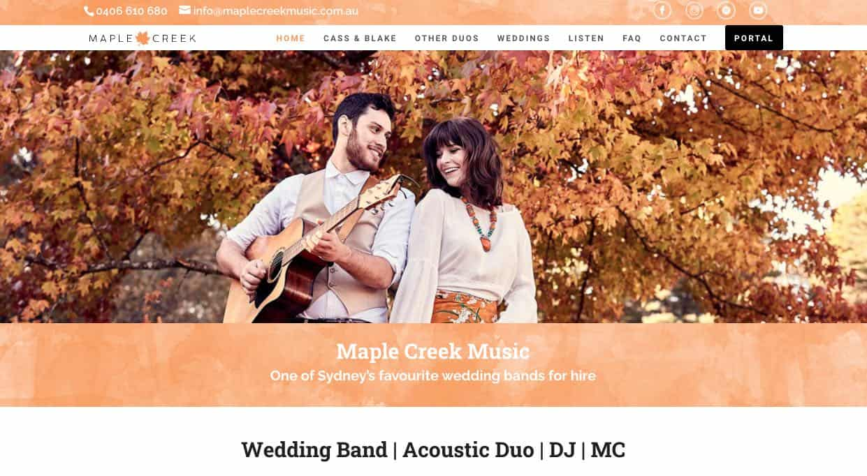 Maple Creek Music Wedding Singers & Bands Sydney