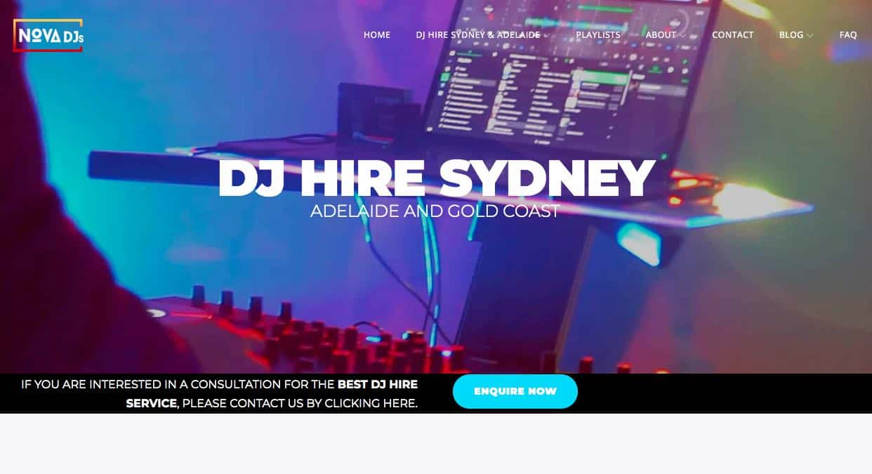 Nova Djs Wedding Dj Sydney