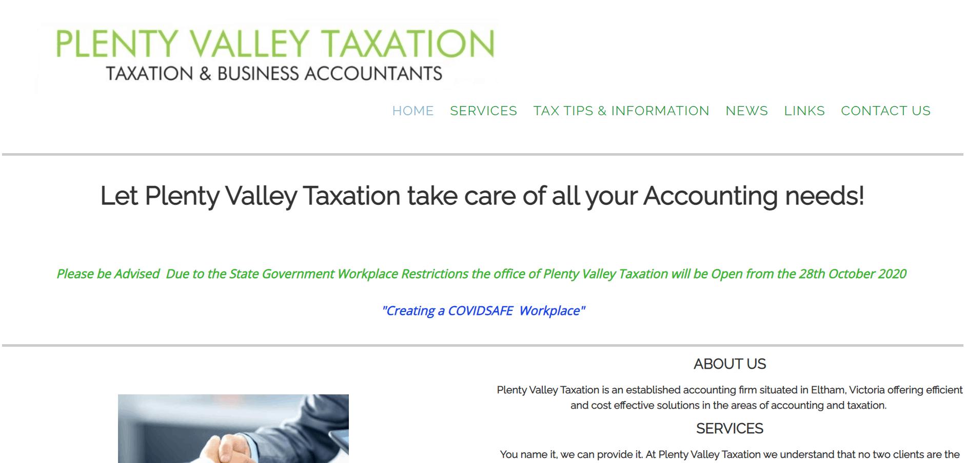 Plenty Valley Taxation