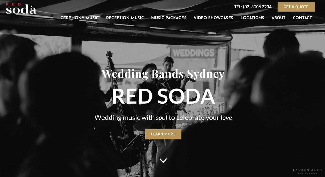 Red Soda Wedding Band Sydney