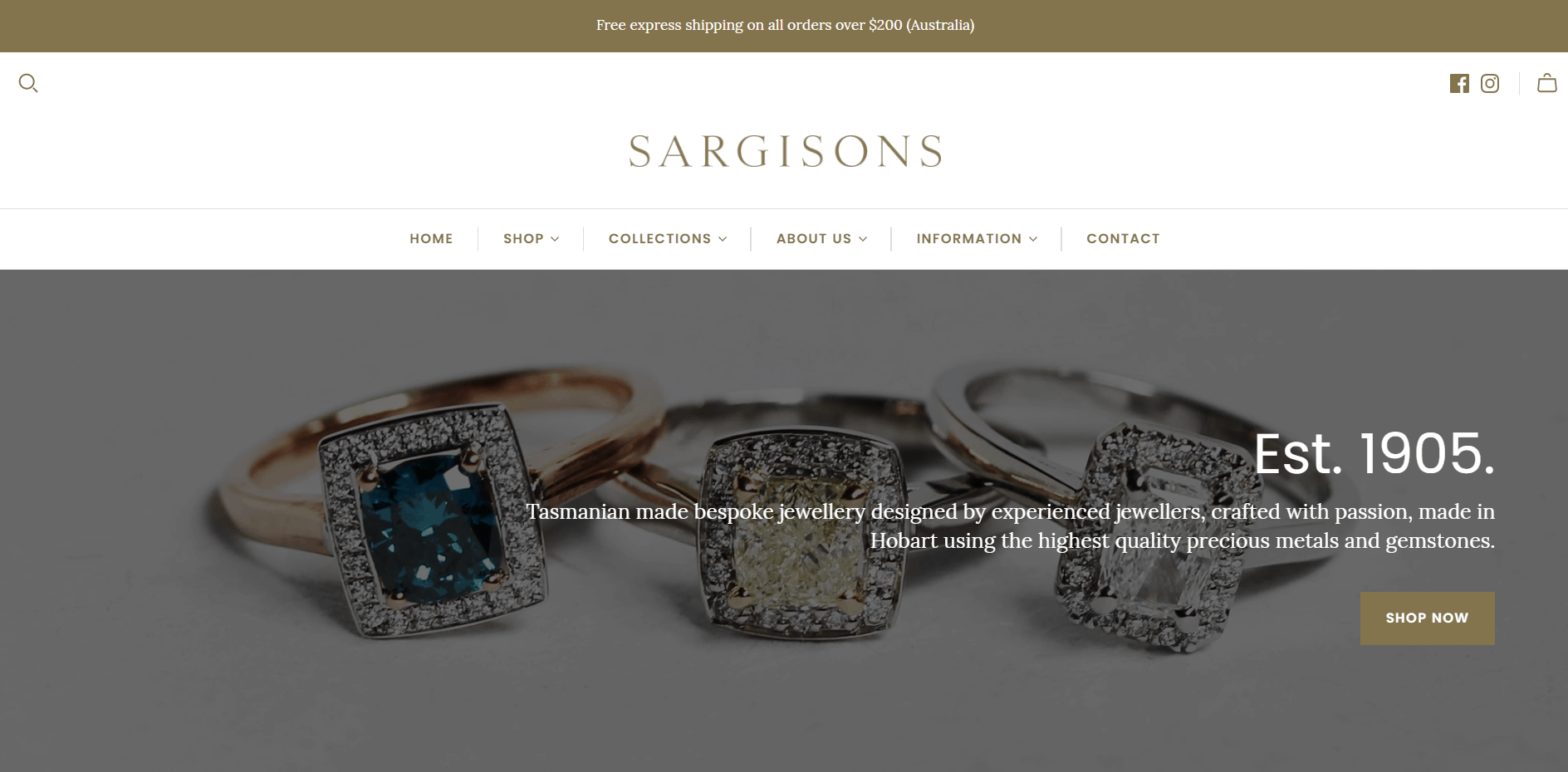 Sargisons Jewellers Hobart