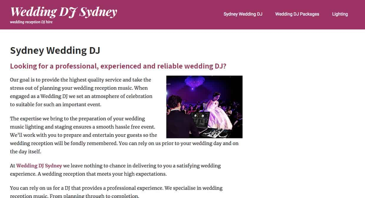 Wedding Dj Sydney Wedding Dj Sydney
