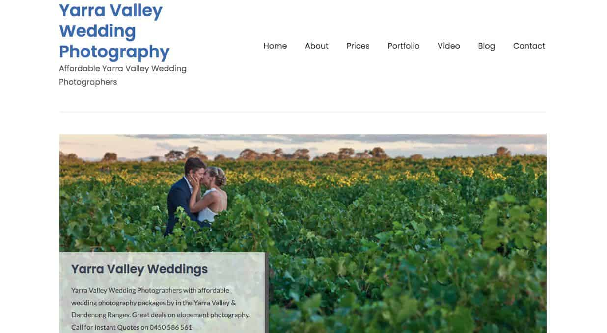 Wedding Photographer Yarra Valley