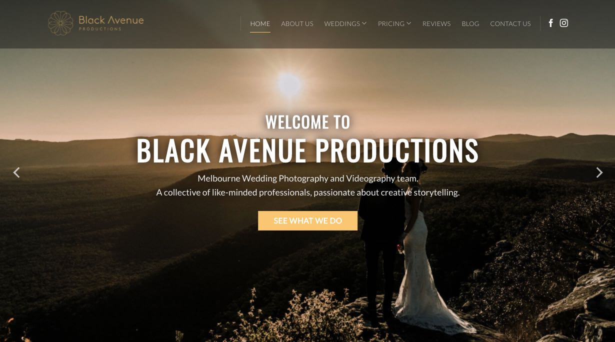 Black Avenue Wedding Videographer Yarra Valley