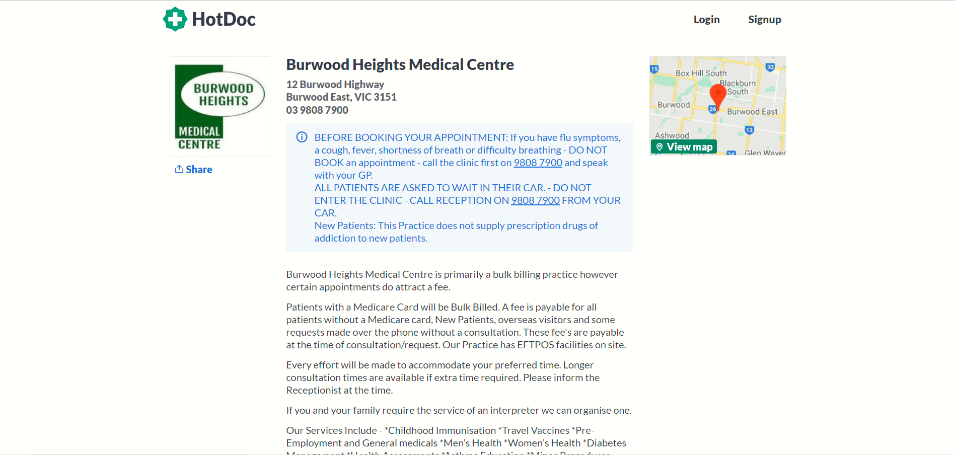 Burwood Heights Medical Centre