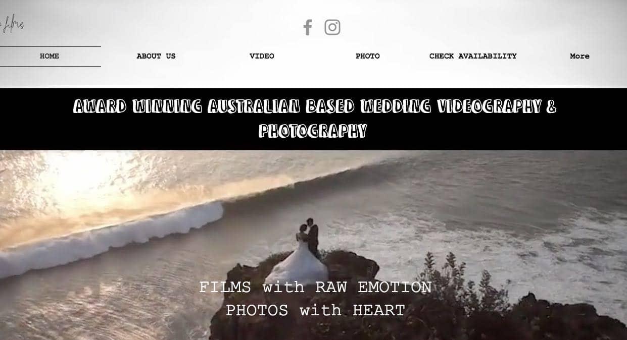 Creative Wedding Film Wedding Photography Mornington Peninsula