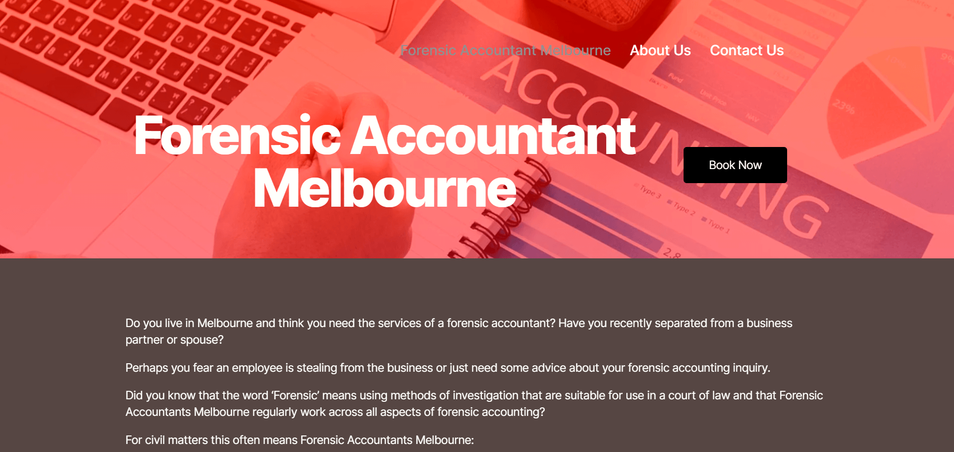 Forensic Accountant Melbourne