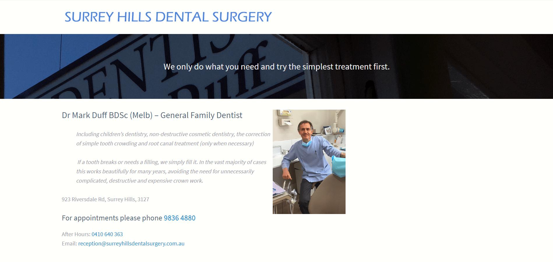 Surrey Hills Dental Surgery
